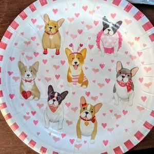 French Bulldog & Friends Valentine Plates & Napkin